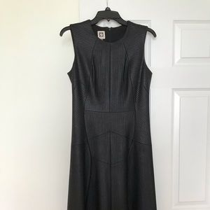 Anne Klein sleeveless scuba middi dress